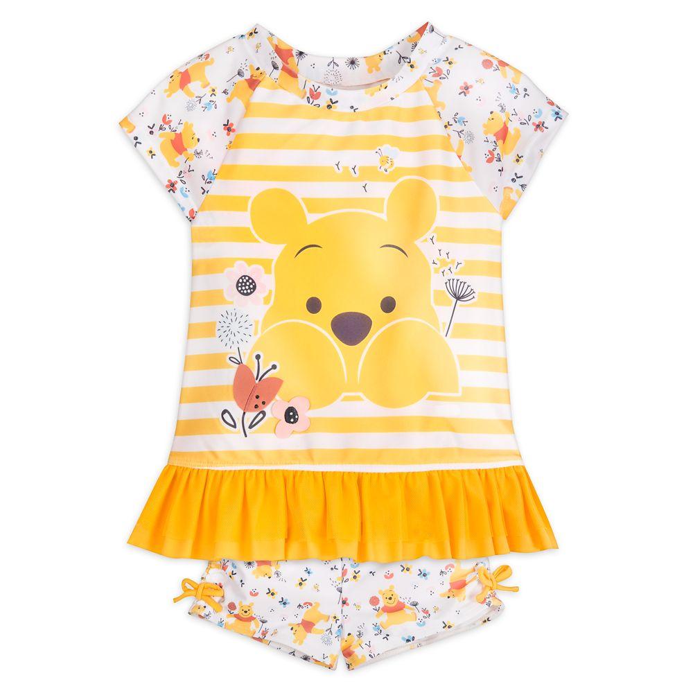 Winnie the Pooh Rash Guard Swimsuit for Girls