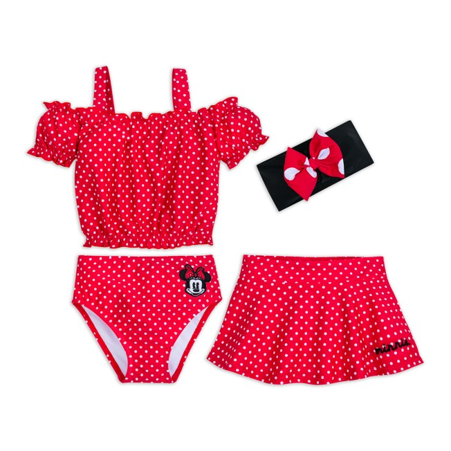 Minnie Mouse Deluxe Swimsuit Set for Girls