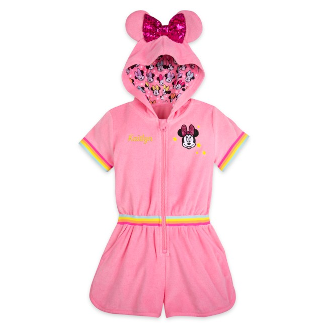 Minnie Mouse Pink Swim Cover-Up for Girls – Personalized