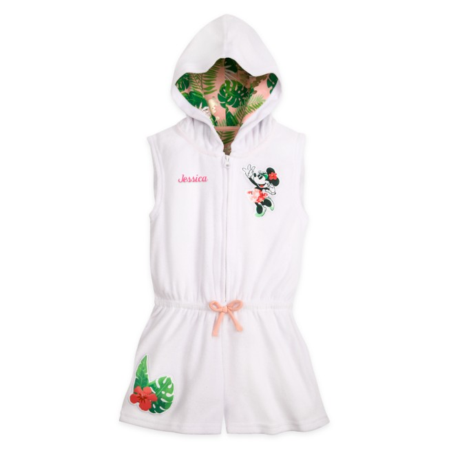 Minnie Mouse Tropical Romper Cover-Up for Girls – Personalized
