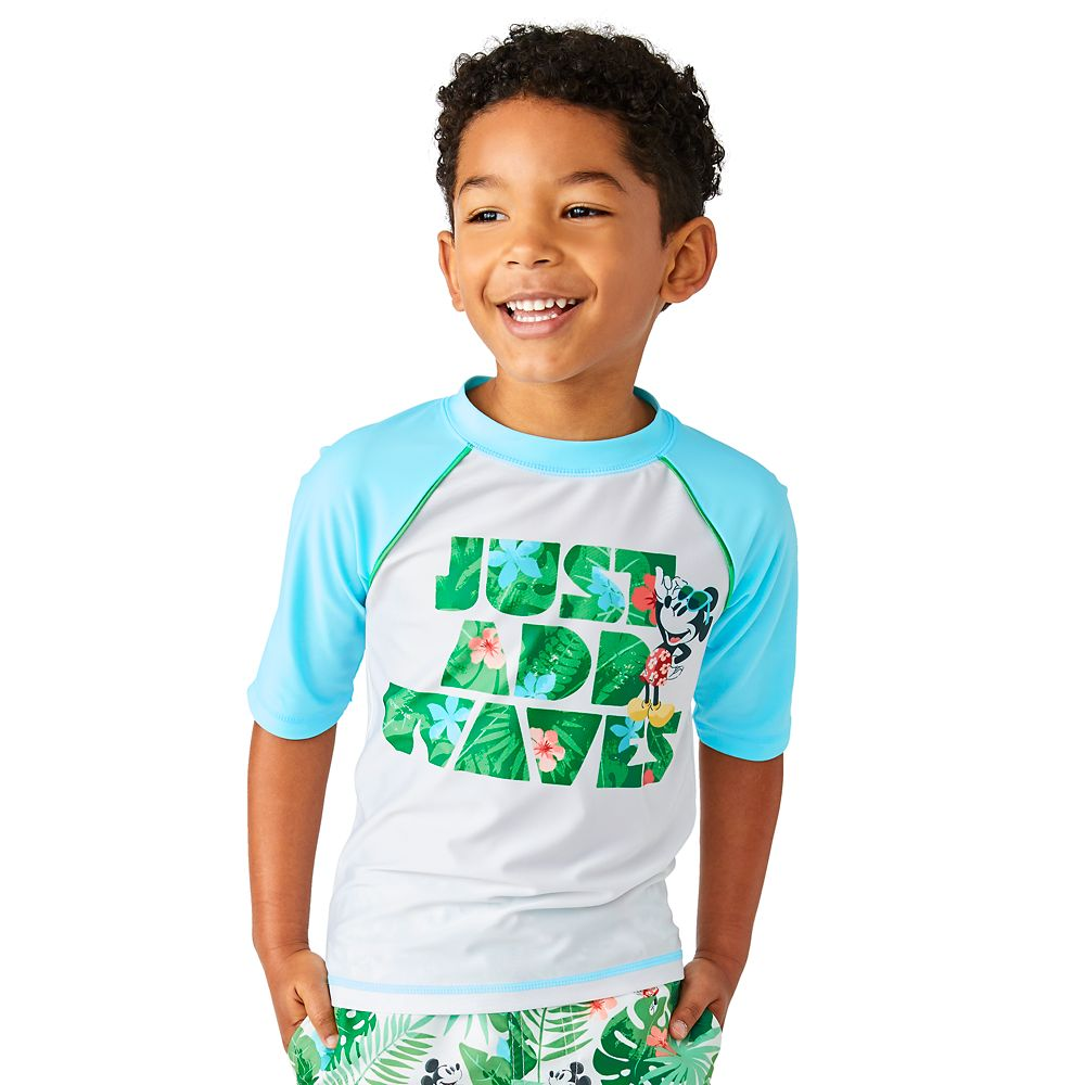 Mickey Mouse Tropical Rash Guard for Boys