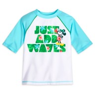 Mickey Mouse Tropical Rash Guard for Boys