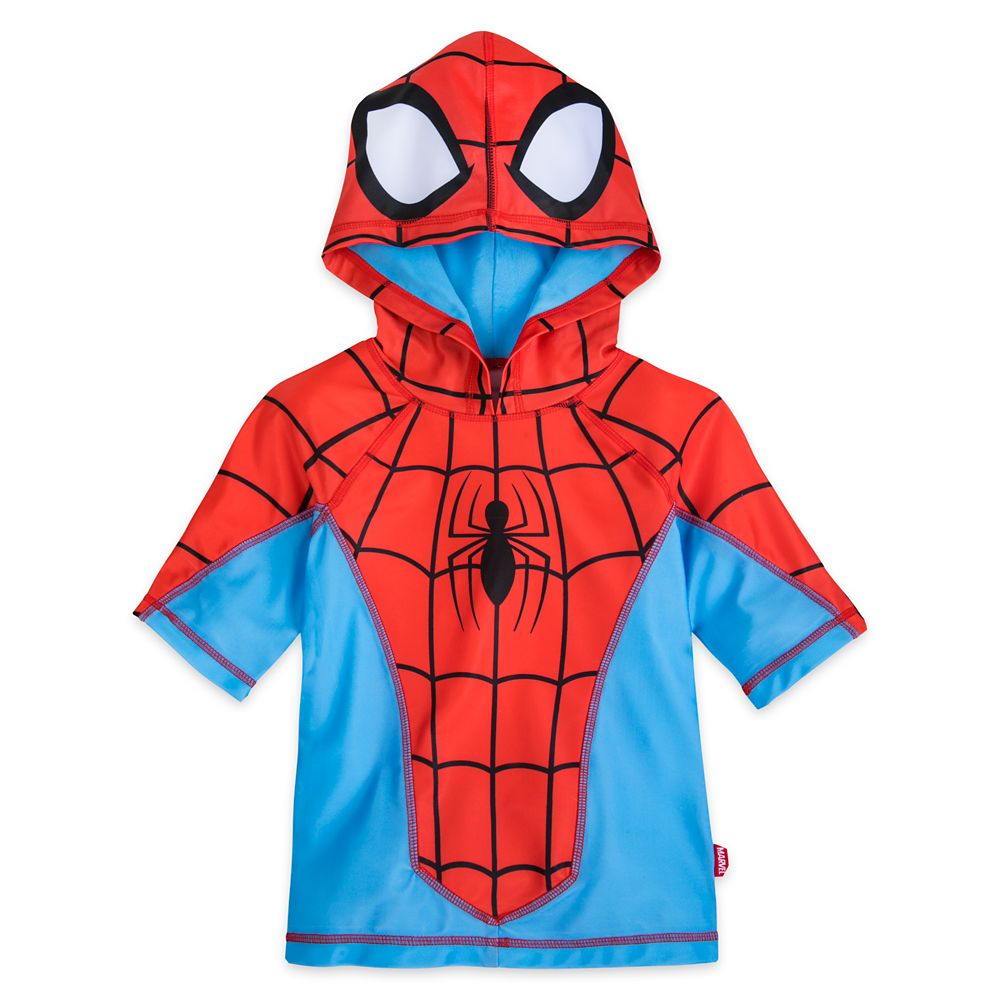 Spider-Man Hooded Rash Guard for Boys