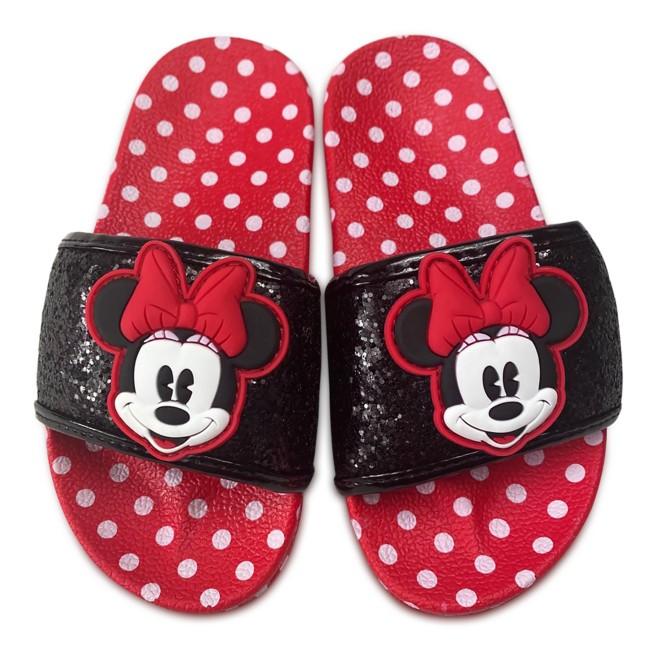 Minnie Mouse Polka Dot Slides for Girls