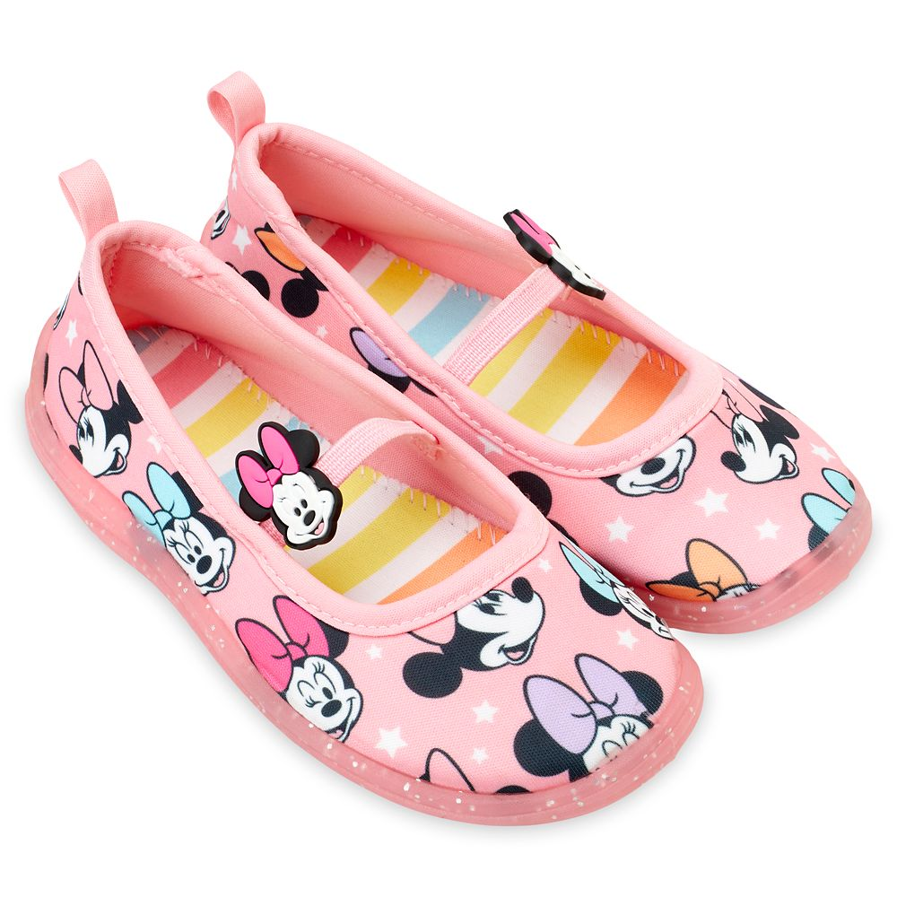 Minnie Mouse Pink Swim Shoes for Kids