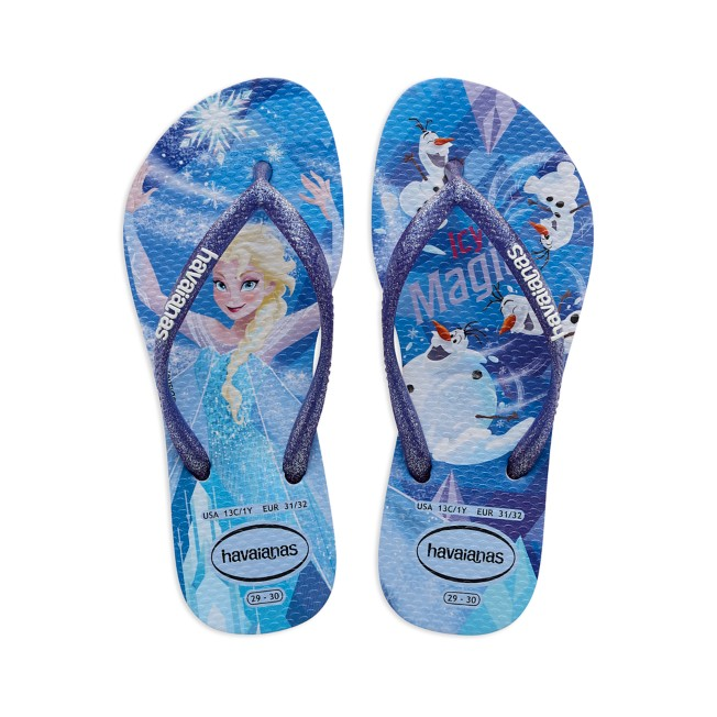 Elsa and Olaf Flip Flops for Kids by Havaianas – Frozen