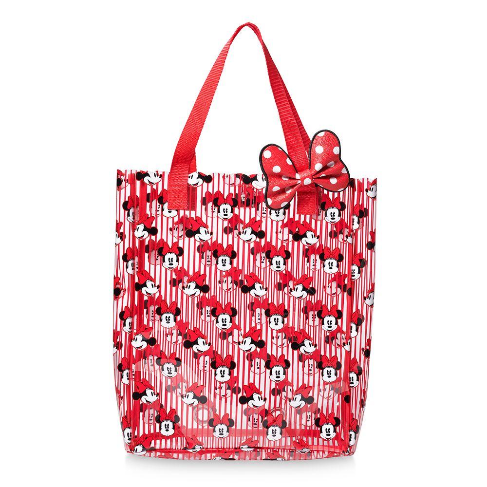 Minnie Mouse Striped Swim Bag
