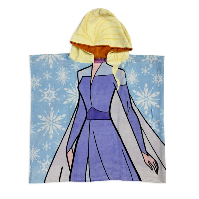 Anna and Elsa Reversible Hooded Towel – Frozen 2