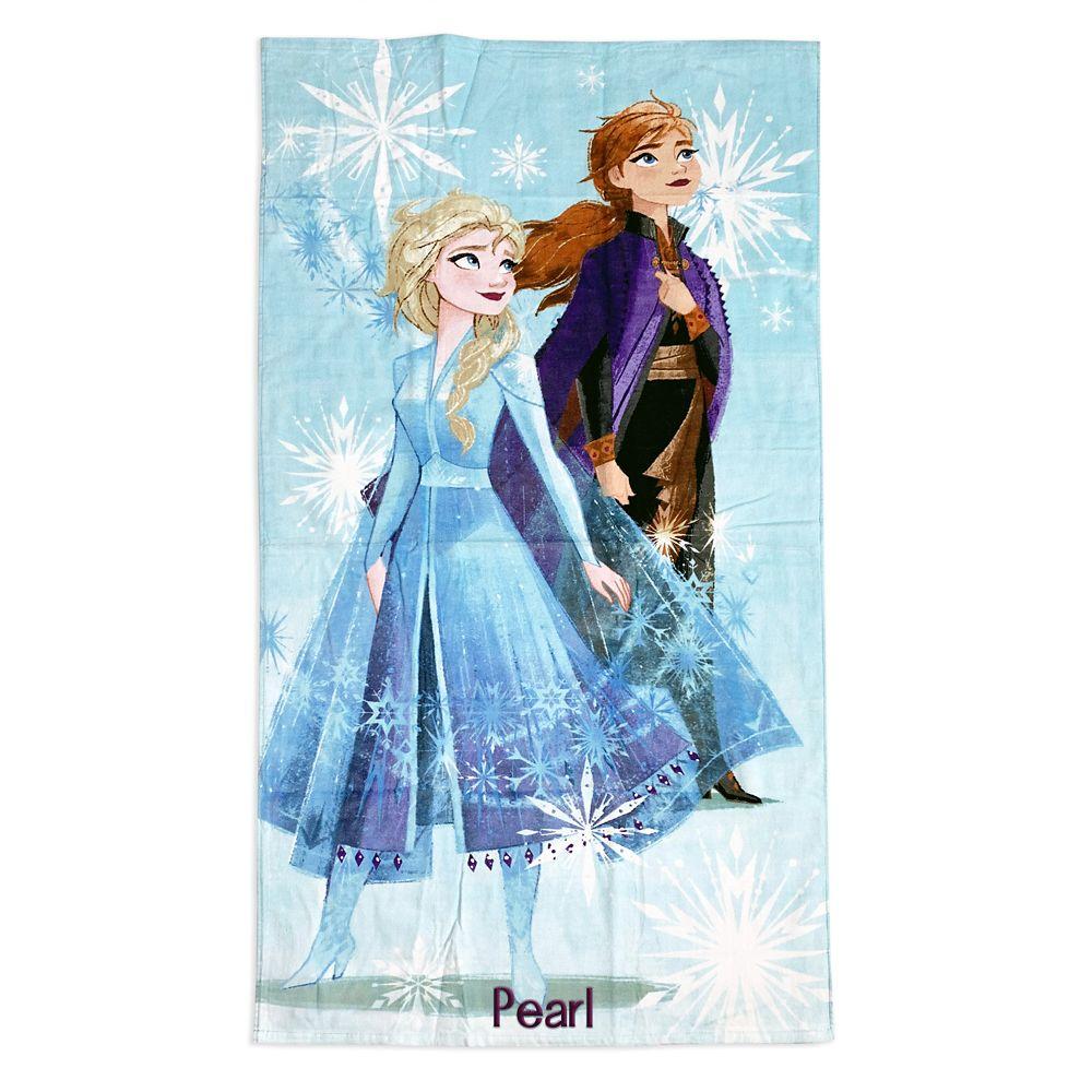shopdisney.com - Anna and Elsa Beach Towel  Frozen 2 Official shopDisney 16.99 USD