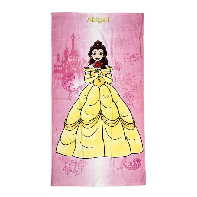 Belle Beach Towel – Beauty and the Beast – Personalized