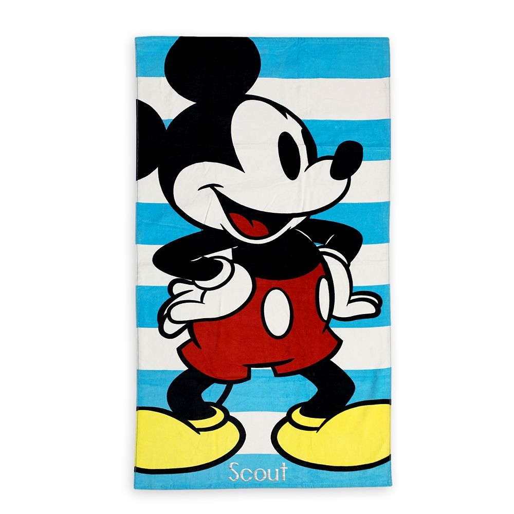 shopdisney.com - Mickey Mouse Beach Towel Official shopDisney 16.99 USD