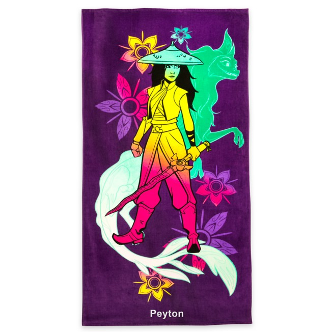 Raya and the Last Dragon Beach Towel – Personalized
