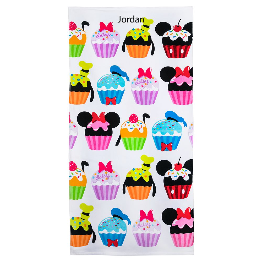 Mickey Mouse and Friends Cupcakes Beach Towel