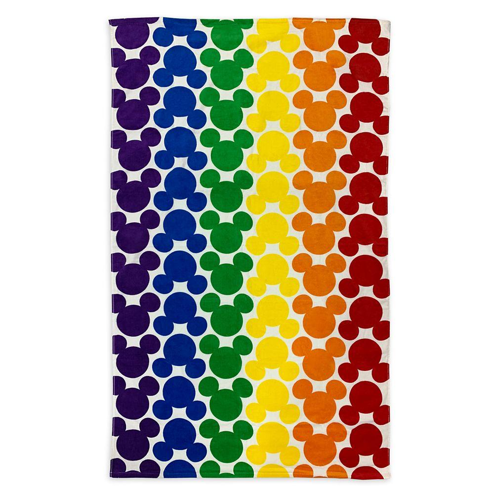 디즈니 Rainbow Disney Collection Mickey Mouse Icon Jumbo Beach Towel – 2020