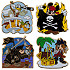 Pirates Pin Starter Set -- 4-Pcs