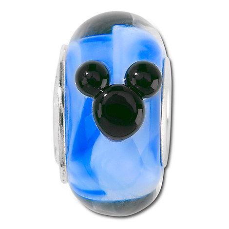 Blue Murano Glass Mickey Mouse Charm