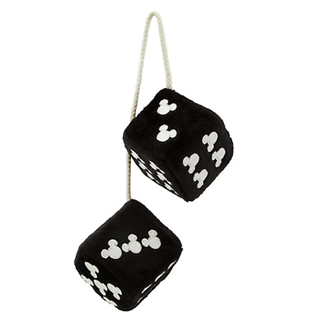 Mickey Mouse Fuzzy Dice