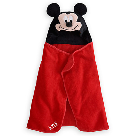 Mickey Mouse Hooded Towel for Baby - Personalizable