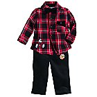Mickey Mouse and Pluto Holiday Shirt and Pants Set for Baby