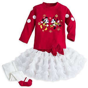 Mickey and Minnie Mouse Dress Set for Baby
