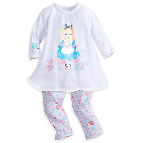 Alice in Wonderland Top and Legging Set for Baby