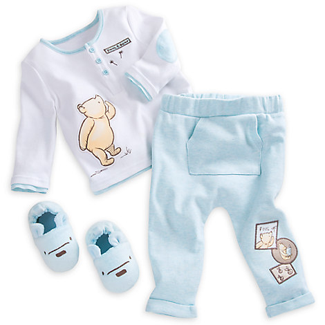 Winnie the Pooh Slipper Set for Baby - Blue