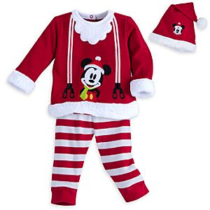Mickey Mouse Santa Suit with Hat for Baby - Personalizable