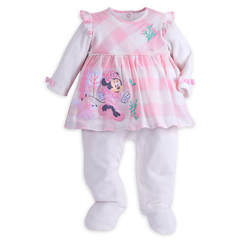 Minnie Mouse Velour Romper for Baby