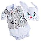 White Rabbit Bodysuit Gift Set for Baby