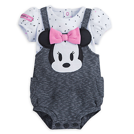 Minnie Mouse Layette Romper for Baby