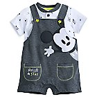 Mickey Mouse Layette Dungaree Set for Baby