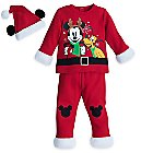 Mickey Mouse and Pluto Holiday Knit Set for Baby
