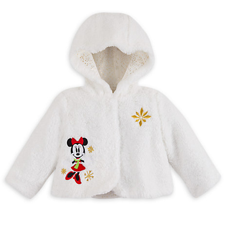 Minnie Mouse Hooded Holiday Jacket for Baby