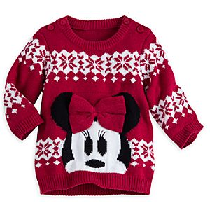 Minnie Mouse Holiday Sweater for Baby