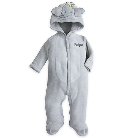 Dumbo Hooded Romper for Baby - Personalizable