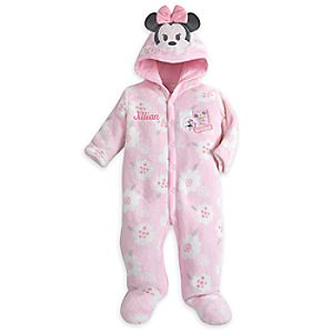Minnie Mouse Hooded Romper for Baby – Personalizable