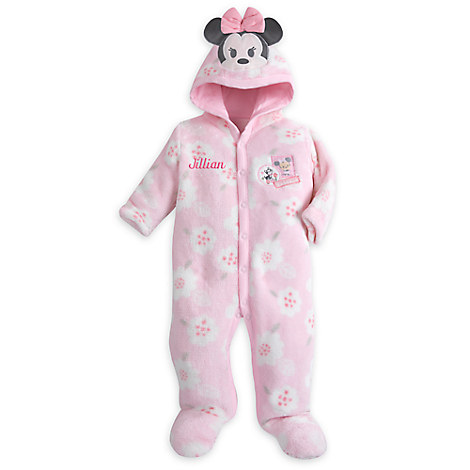 Minnie Mouse Hooded Romper for Baby - Personalizable