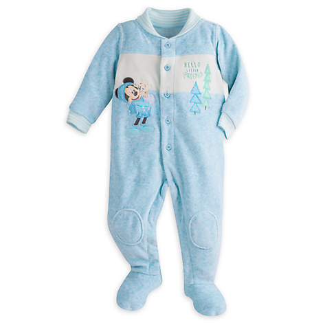 Mickey Mouse Velour Romper for Baby
