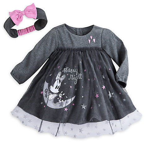 Minnie Mouse Layette Dress Set for Baby