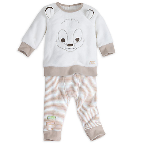 Bambi Faux Sheepskin Knit Set for Baby