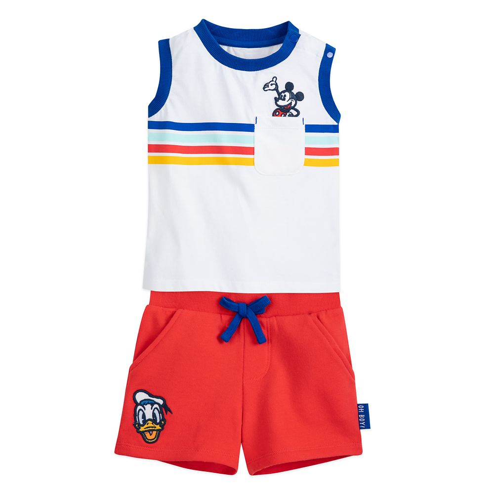 Mickey Mouse and Donald Duck Tank Top and Shorts Set for Baby
