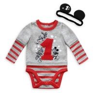Mickey Mouse and Friends 1st Birthday Bodysuit and Headband Set for Baby