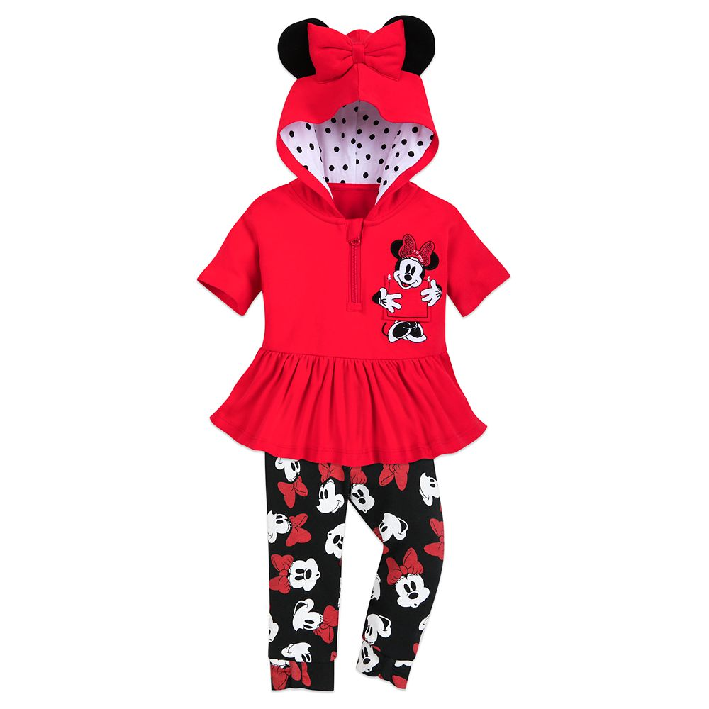 Minnie Mouse Hooded Shirt and Pants Set for Baby