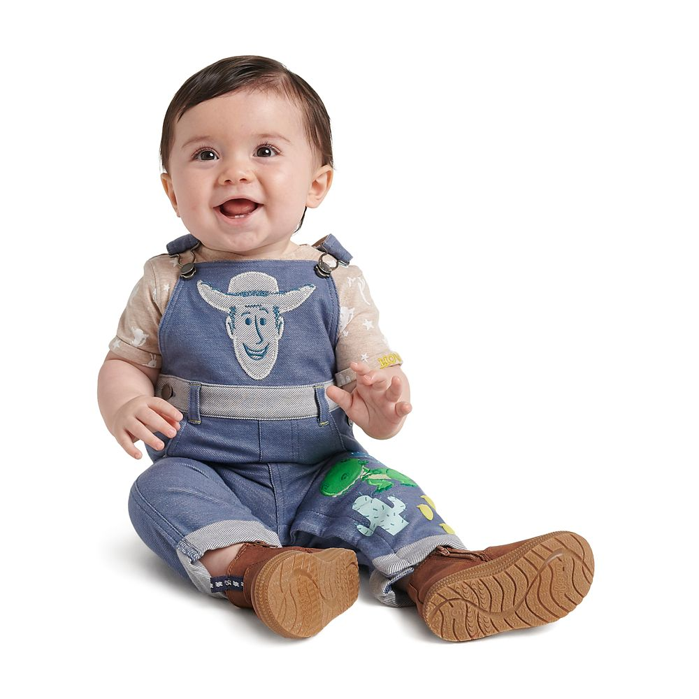 Baby Boy Khaki Puppy Applique Roll up overall dungaree Size 3-6M//6-9M
