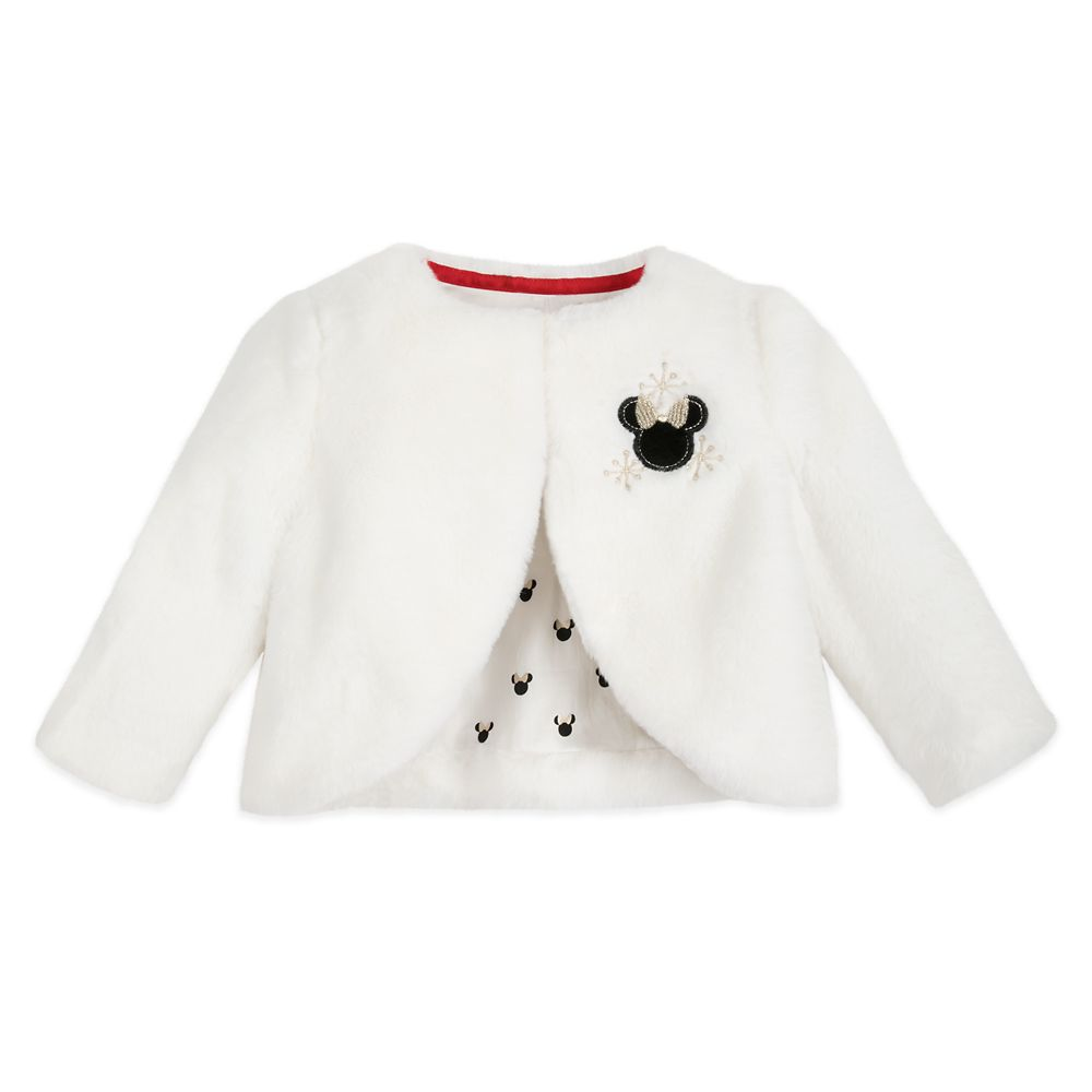 Minnie Mouse Holiday Faux Fur Jacket for Baby