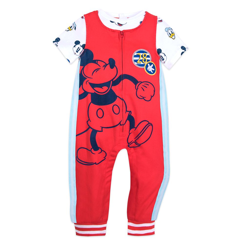 Mickey Mouse and Donald Duck Dungaree Set for Baby