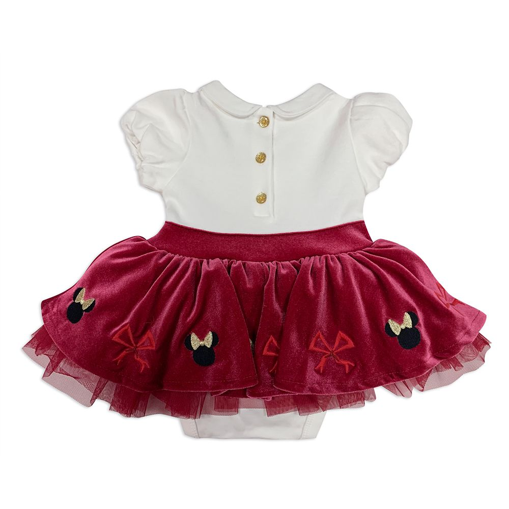 Minnie Mouse Holiday Bodysuit with Skirt for Baby