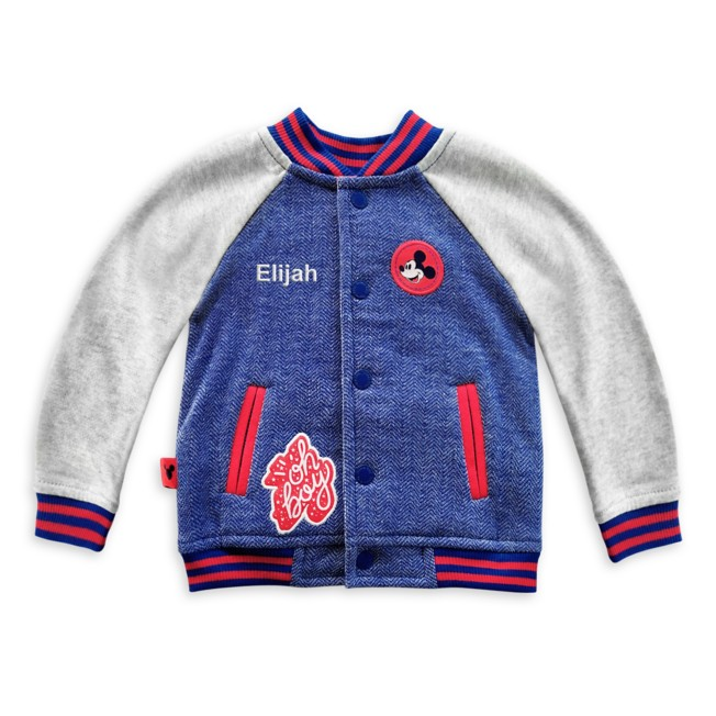 Mickey Mouse Varsity Jacket for Baby – Personalized