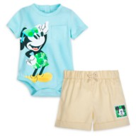 Mickey Mouse Tropical Bodysuit and Shorts Set for Baby