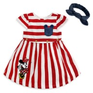 Minnie Mouse Striped Dress Set for Baby